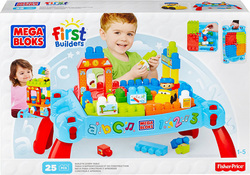 Mega Bloks First Builders: Build ' Learn Table 25τμχ