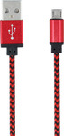 Forever Braided USB 2.0 to micro USB Cable Κόκκινο 1m