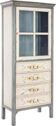 Genziana Small Display Cabinet 1DO-4DR 0744091 70x40x163cm