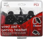 Ardistel Redlevel Dualshock Wired Controller & Bluetooth Headset