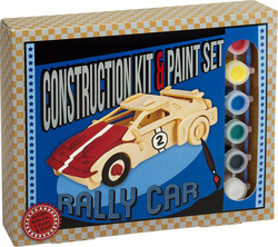 Professor Puzzle Construction & Paint Set - Rally Car
