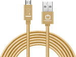 PowerStar Braided USB 2.0 to micro USB Cable Χρυσό 1m