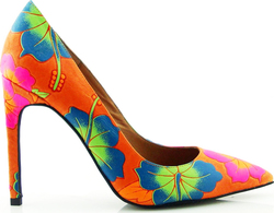 Jeffrey Campbell Dulce Floral Orange Multi