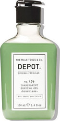 The Male Tools & Co Depot Transparent Shaving Gel 100ml