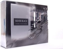 Azzaro Silver Black Eau De Toilette Spray 100ml & Deodorant 150ml