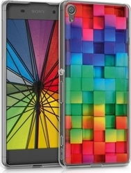 KW Back Cover Σιλικόνης Rainbow Cubes (Xperia XA)