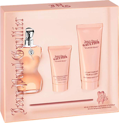 Jean Paul Gaultier Classique Eau De Toilette 50ml & Body Lotion 75ml & Shower gel 30ml