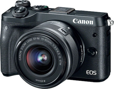Canon EOS M6 Kit (EF-M 15-45mm f/3.5-6.3 IS STM) Black
