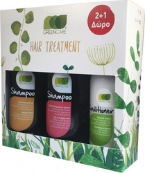 Green Care Shampoo Normal Hair 500ml & Shampoo Dry Hair 500ml & Conditioner 300ml