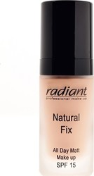 Radiant Natural Fix All Day Matt Make Up SPF15 04 Peachy Beige 30ml