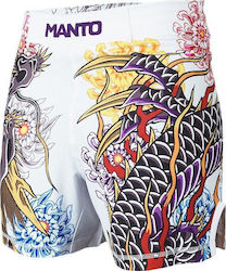 MANTO X KRAZY BEE DRAGON MMA FIGHT SHORTS - WHITE
