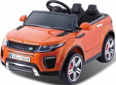 Τύπου Land Rover 12V R/C & Leather Seats Orange