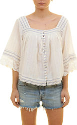 FREE PEOPLE SEE SAW SHIRTS - OB571391-IVOR CREAM