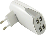 LC-Power 4x USB Wall Adapter Λευκό (LC-CH-USB-WS-4)