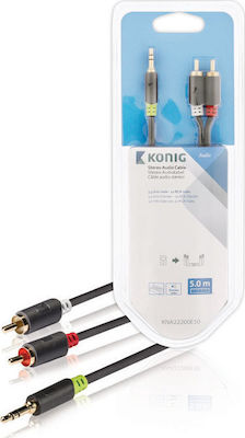 Konig Cable 3.5mm male - 2x RCA male 5m (KNA22200E5.00)