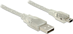 DeLock USB 2.0 Cable USB-A male - mini USB-B male 2m (83907)