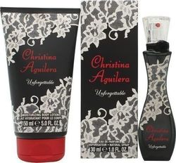Christina Aguilera Unforgettable Eau de Parfum 30ml & Body Lotion 150ml