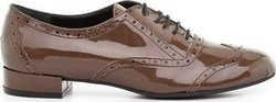 Feng Shoe 6701NO020 Brown Patent