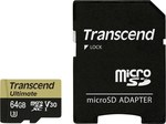 Transcend Ultimate microSDXC 64GB U3 V30 with Adapter