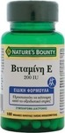 Nature's Bounty Vitamin E 200iu 100 κάψουλες
