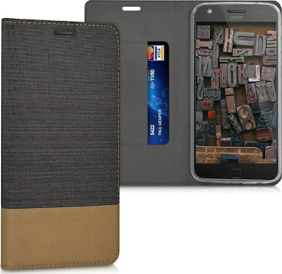 KW Wallet Anthracite/ Brown (Moto Z Play)