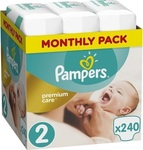 Pampers Premium Care No 2 (3-6kg) 240 τμχ