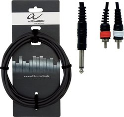 Alpha Audio Cable 6.3mm male - 2x RCA male 3m (190.145)