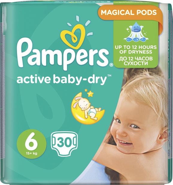 cb3ff5af917 Προσθήκη στα αγαπημένα menu Pampers Active Baby Dry No6 (15+Kg) 30 τμχ