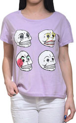 CHEAP MONDAY HAVE TEE 0387644 N42 LILAC
