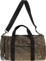 Fred Perry Jacquard Camo Barrel Bag