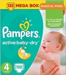Pampers Active Baby Dry Mega Box No 4 (8-14kg) 2*132τμχ