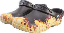 CROCS BISTRO GRAPHIC CLOG BLACK ROOMY FIT 204044-001