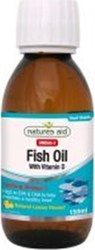 Natures Aid Fish Oil with Vitamin D 1605mg Omega-3 150ml Λεμόνι