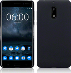 Terrapin Back Cover Σιλικόνης Black Matte (Nokia 6)