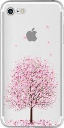 iNOS Back Cover Almond Tree Διάφανο (iPhone 7)
