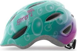 Giro Youth Scamp Turquoise Magenta Bubbles