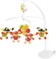 Babyono Musical Mobile Bees and Ladybirds