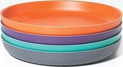"Biobu Bambino 9"" Medium Plate Set Multi Orange/Blue"