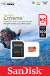 Sandisk Extreme Action microSDXC 64GB U3 V30 A1 with Adapter