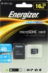 Energizer HighTech microSDHC 16GB U1 with Adapter