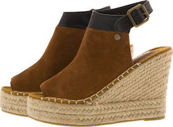 SUPERDRY D2 MIA ESPADRILLE WEDGE SHOES - SDSH0GF1002SO0000-20O BROWN