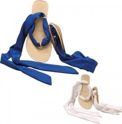 Scholl Pocket Sandal White / Blue