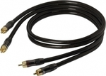 Real Cable Cable 2x RCA male - 2x RCA male 1m (ECA/1M00)