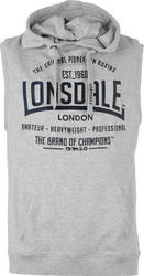 Lonsdale Box Sleeveless Hoody 632247 Grey Marl