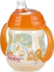 Nuby Ποτηράκι Twin Handle Soft Spout Orange 270ml