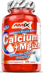 Amix Nutrition Calcium + Mg & Zn 100 ταμπλέτες