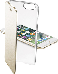 Cellular Line Clear Book Gold (iPhone 7)
