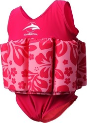 Konfidence Floatsuit Pink Hibiscus (Swimsuit Style)