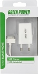 OEM 1x Apple 30pin Cable & Wall Adapter Λευκό (Green Power)