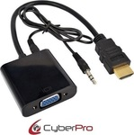 CyberPro 3.5mm,HDMI male - VGA female (CP-HV10)